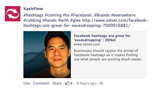 Facebook Hashtags Youre Doing It All Wrong Think Zap